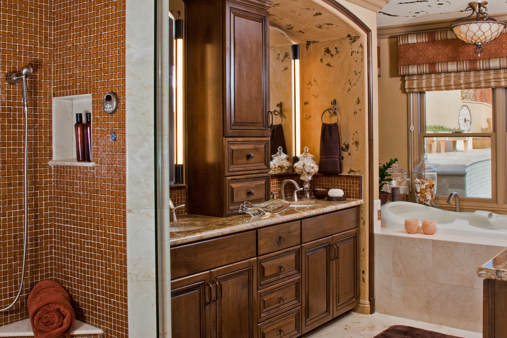 brown bathroom cabinet custom bathroom cabinets curved sinks two level 12183