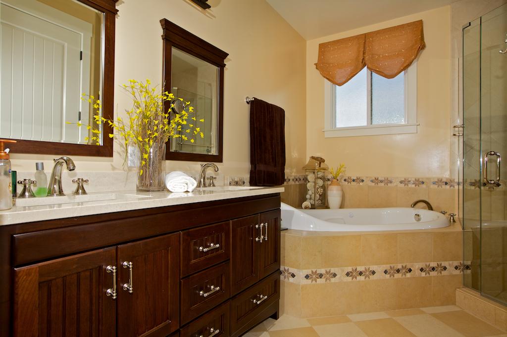 Bathroom Cherry Cabinets With Camden Doors Beadboard Drawer Below Sink Mirror Frames