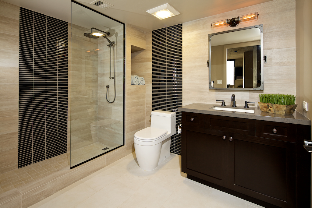 Bathroom Cabinets With Dark Java Espresso Stain And Shaker Doors