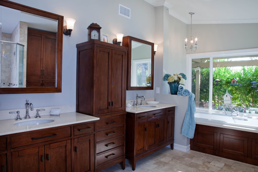 Bathroom Furniture Style Cabinets Tapered Legs Tub Skirt Flush Inset