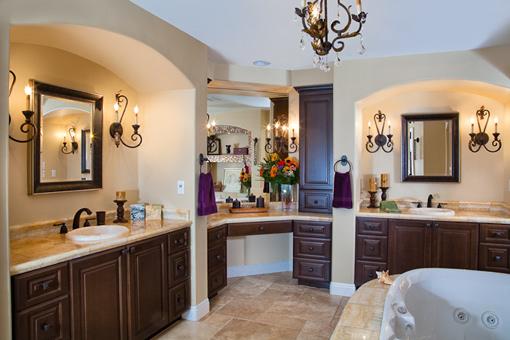 Custom Bathroom Cabinets Master Vanity Upper Tower Java Stain