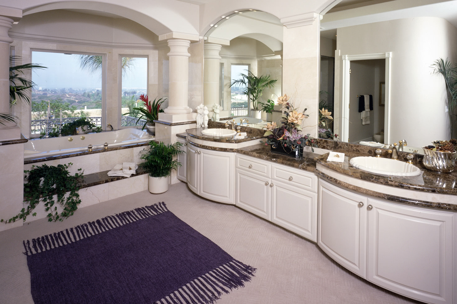Terrific Custom Bathroom Cabinets Curved Face Sinks Two Level Home Remodeling Inspirations Cosmcuboardxyz