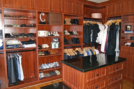Custom Closet Cabinets With Island