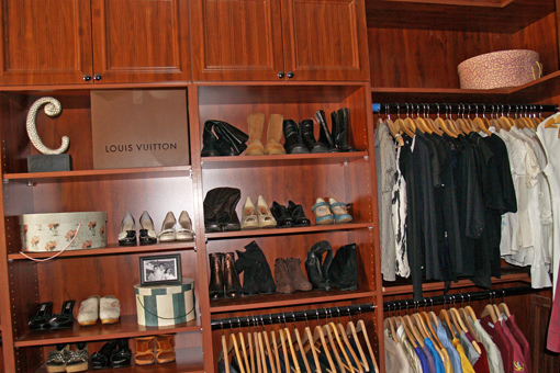 Custom Closet Cabinets With Shelves