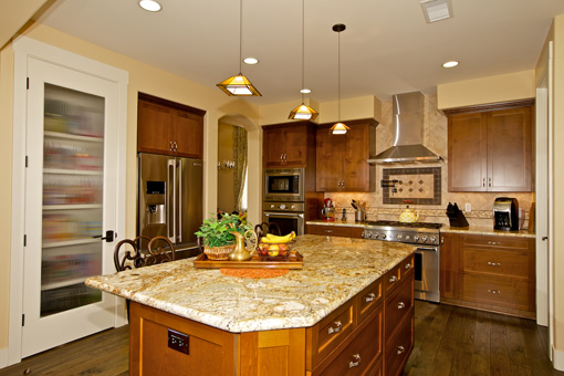 Kitchen Cabinets with Alder Wood Full Overlay Shaker Doors Crown Molding