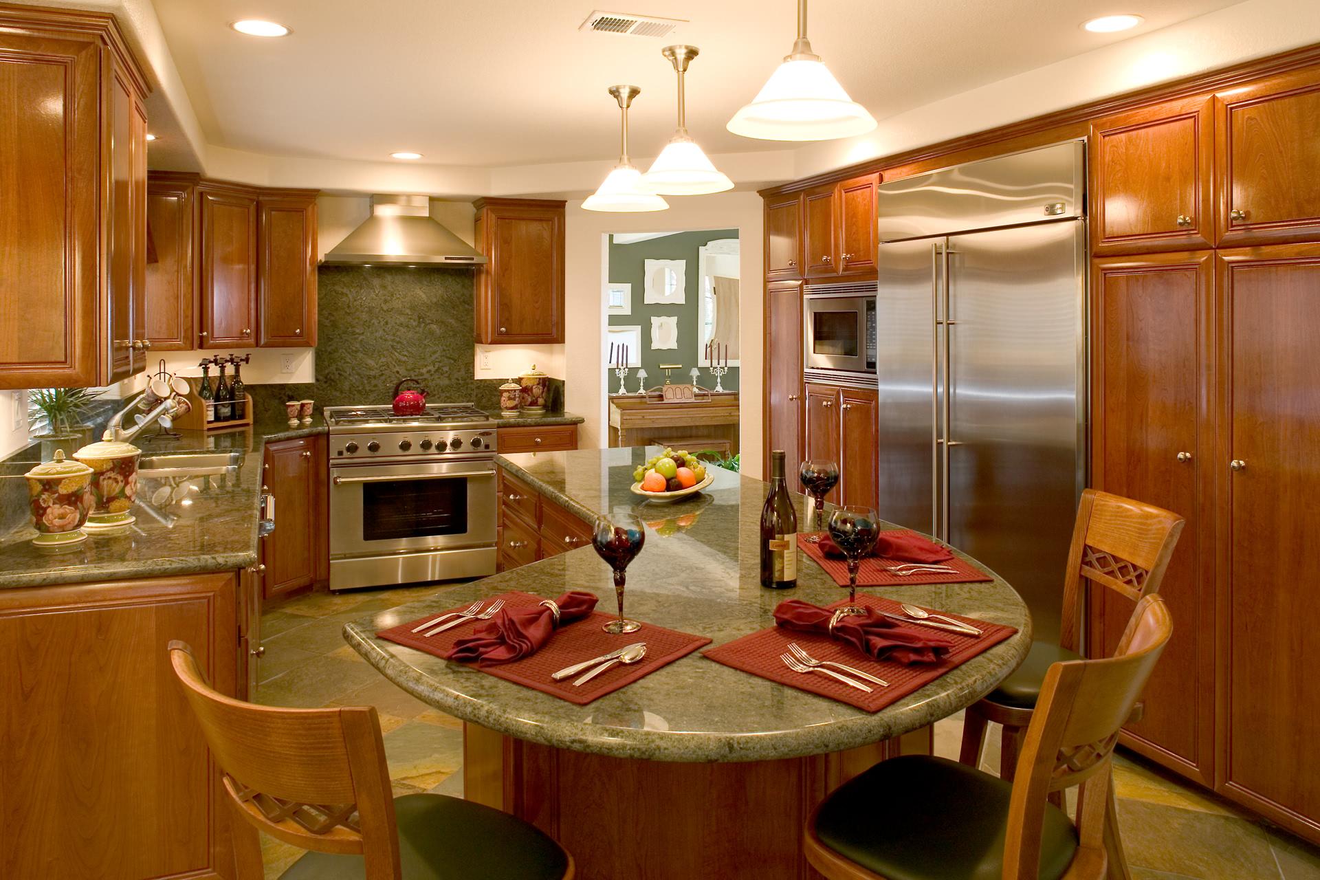 Custom Kitchen Peninsula With Butcher Block Countertop