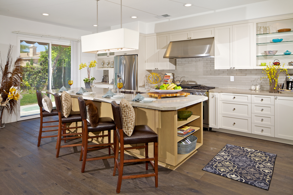 Crown Imperial Kitchens >> Custom Contemporary Kitchen Cabinets - Alder Wood Java Finish Shaker