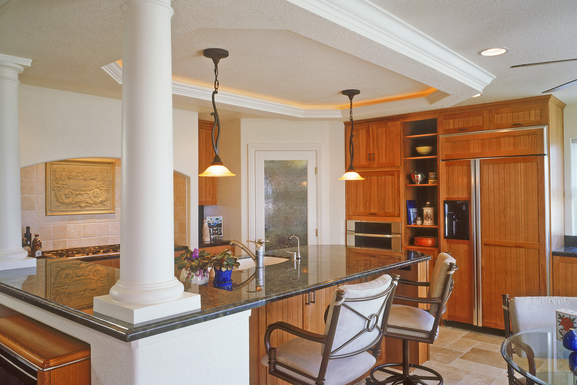 Modern Contemporary Kitchen Cabinets - Painted White Glaze ...